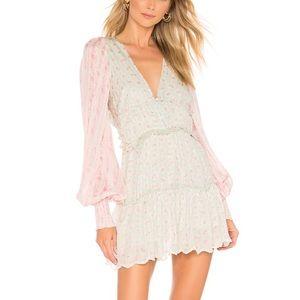 Sana Viscose Satin Stripe Lurex Dress in Mint